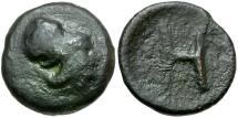 Ancient Coins - Arkadia. Heraia Æ Tetrachalkon / Athena