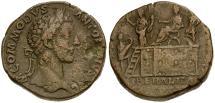 Ancient Coins - Commodus Æ Sestertius / Platform Scene