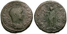 Ancient Coins - gF+/gF Philip II Æ AS / Pax