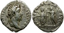 Ancient Coins - Commodus AR Denarius / Commodus and Jupiter