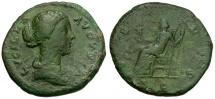 Ancient Coins - Lucilla Æ AS / Venus Seated