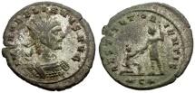 Ancient Coins - Aurelian Silvered Antoninianus / Restitut Orientis