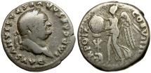 Ancient Coins - Vespasian AR Denarius / Judaea Capta
