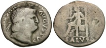 Ancient Coins - Nero AR Denarius / Salus
