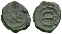 Byzantine Empire.  Justin II Æ Pentanummium