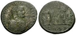 Ancient Coins - gF+/gF+ Maximianus as Senior Augustus Æ Follis / Providentia and Quies