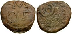 Ancient Coins - Spain. Unknown Æ Tessera / Wreath