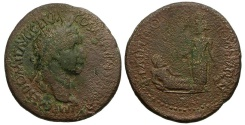 Ancient Coins - Domitian. Thrace. Philippopolis Æ Tetrassarion / Tyche and River god