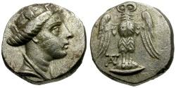 Ancient Coins - Pontos, Amisos AR Reduced Siglos / Hera / Owl