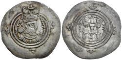 Ancient Coins - Sasanian Kings. Khusro II (AD 591-628) AR 33mm Drachm