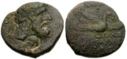Ancient Coins - Coele-Syria, Dynasts of Chalkis, Ptolemaios as Tetrarch Æ22 / Eagle