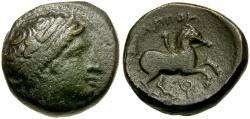 Ancient Coins - Kings of Macedon. Philip II Æ17 / Youth on Horseback