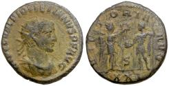 Ancient Coins - Diocletian (AD 284-305) Æ3 / Diocletian and Victory
