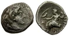 Ancient Coins - Kings of Macedon. Alexander III the Great. Struck under Stamenes or Archon AR Obol / Zeus Enthroned