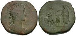 Ancient Coins - Commodus Æ Sestertius / Sacrificing