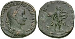 Ancient Coins - Gordian III (AD 238-244) Æ Sestertius / Mars