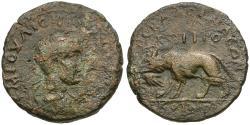 Ancient Coins - Philip II, as Caesar (AD 244-247). Lykaonia. Laranda Æ26 / Wolf with Human Hand