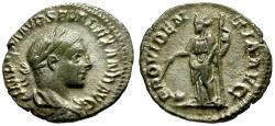 Ancient Coins - aVF/aVF Severus Alexander AR Denarius / Providentia