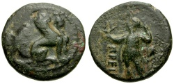 Ancient Coins - Pamphylia.  Perga Æ17 / Sphinx