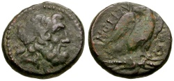 Ancient Coins - Madecon. Amphipolis Æ19 / Eagle