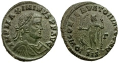 Ancient Coins - Maximinus II Daia Æ Follis / Jupiter with Victory