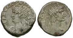Ancient Coins - Nero (AD 54-68) with Divus Augustus. Egypt. Alexandria Billon Tetradrachm / Augustus