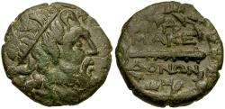 Ancient Coins - Kings of Macedon. Time of Philip V and Perseus Æ22 / Club in Wreath