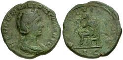 Ancient Coins - Herennia Etruscilla Æ Sestertius / Pudicitia