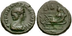 Ancient Coins - Salonina. Egypt. Alexandria Billon Tetradrachm / Tyche Reclining
