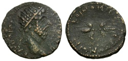 Ancient Coins - Marcus Aurelius. Koinon of Macedonia Æ26 / Winged Thunderbolt