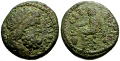 Ancient Coins - Syria, Seleucia and Pieria, Antioch Pseudo-Autonomous Issue Time of Nero Æ20 / Voting Scene