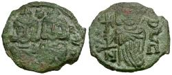 Ancient Coins - *Sear 1569* Byzantine Empire. Constantine V Copronymus (AD 741-775) with Leo IV and Leo III Æ Follis