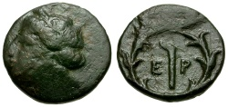 Ancient Coins - Argolis. Hermione Æ Chalkous / Demeter and Torch