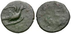 Ancient Coins - Sikyonia. Sikyon Æ12 / Dove