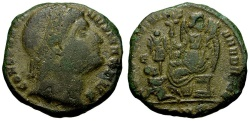Ancient Coins - Constantine I The Great Æ3 / Eyes to Heaven