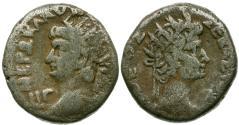 Ancient Coins - Nero (AD 54-68) with Divus Augustus. Egypt. Alexandria Billon Tetradrachm