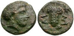 Ancient Coins - Thessaly. Meliboia Æ Chalkous / Grapes