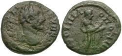 Ancient Coins - Septimius Severus (AD 193-211). Moesia Inferior. Nicopolis ad Istrum Æ17 / Priapus