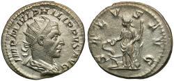 Ancient Coins - Philip I (AD 244-249) AR Antoninianus / Salus