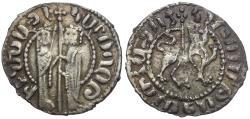 World Coins - Kings of Cilician Armenia. Hetoum I (AD 1226-1270) with Zabel I AR Tram