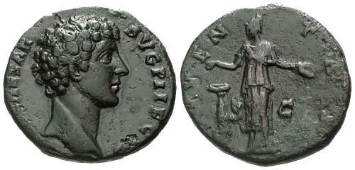 Ancient Coins - VF/VF Marcus Aurelius AS / Iventas