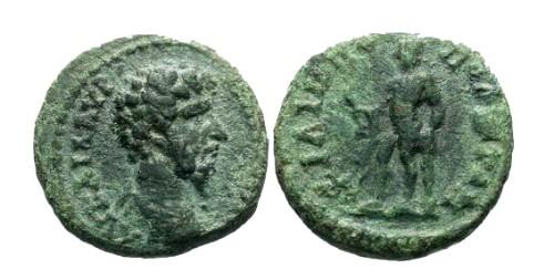 Ancient Coins - VF/VF Lucius Verus AE20 Philippopolis / Hercules