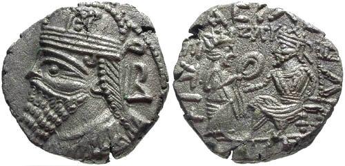 Ancient Coins - Choice EF/EF Vologases IV billon tetradrachm
