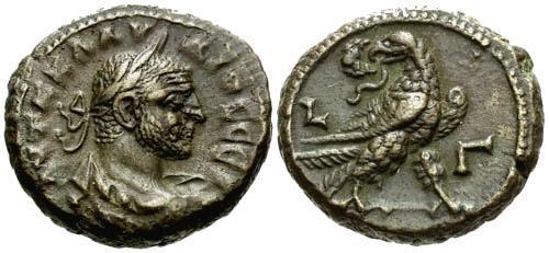 Ancient Coins - EF/EF Claudius II Gothicus Alexandria Egypt Potin Tetradrachm