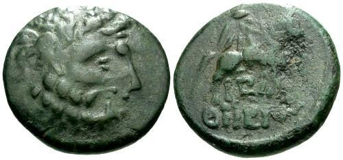Ancient Coins - VF/aVF Celtic Copy Thrace Odessos AE21 / Horse and rider