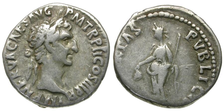 Ancient Coins - Nerva (AD 96-98) AR Denarius / Libertas