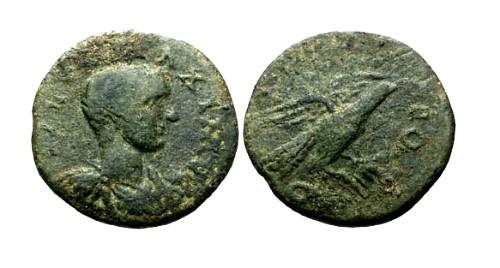 Ancient Coins - aVF/gF Maximus Caesar Troas Alexandria AE24 / Eagle