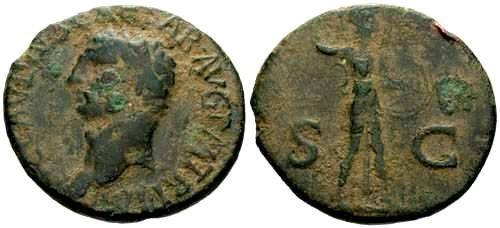 Ancient Coins - aVF/gF Claudius As Spanish Mint Style