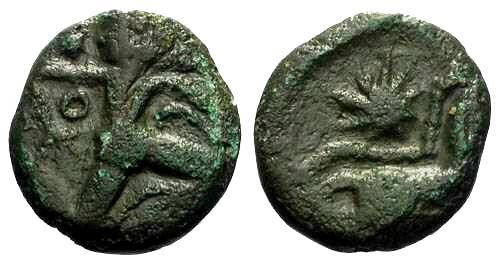Ancient Coins - VF/VF Bellovaci Bronze / Running Cubist