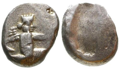 Ancient Coins - VF/VF Persian Achemenid Period AR Siglos